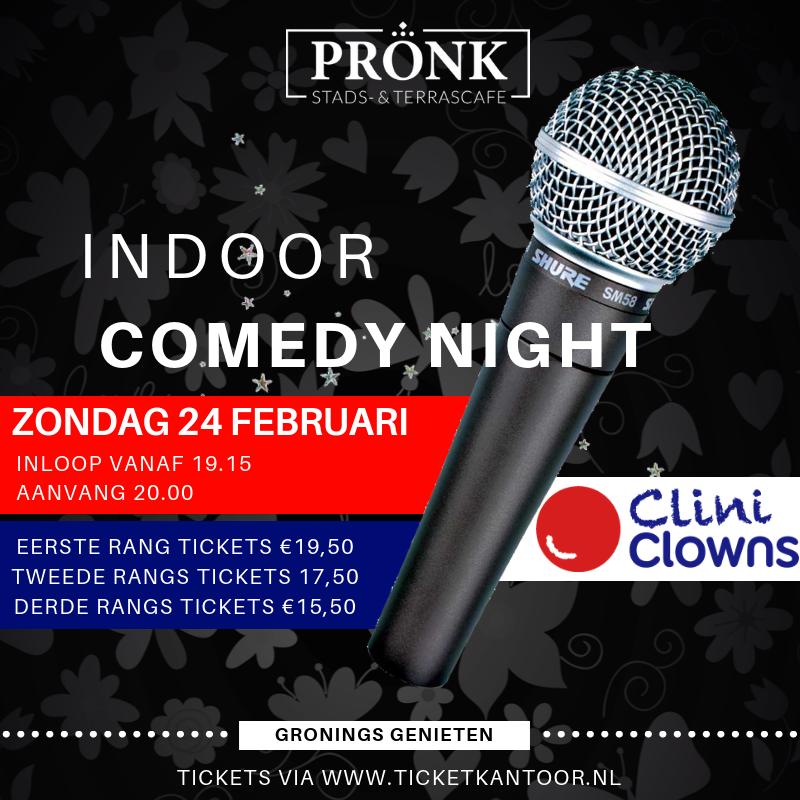 Indoor Comedy Night Pronk
